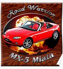 Mazda MX-5 Miata Road Warrior Poster