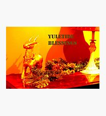 Yuletide blessings Photographic Print