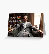Go Study—James Moriarty Greeting Card