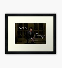 Go Study—James Moriarty v2 Framed Print