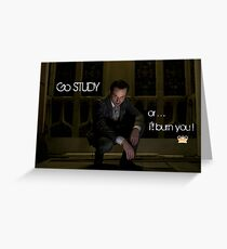 Go Study—James Moriarty v2 Greeting Card