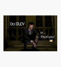 Go Study—James Moriarty v2 Photographic Print