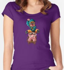 The Pilot Pig! Women's Fitted Scoop T-Shirt