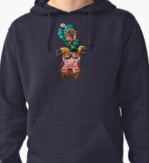 The Pilot Pig! Pullover Hoodie