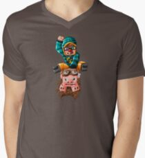 The Pilot Pig! Men's V-Neck T-Shirt
