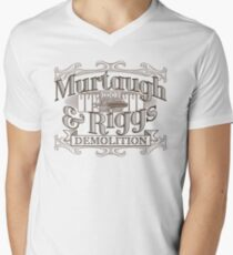 Murtaugh & Riggs Demolition Men's V-Neck T-Shirt