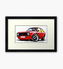 Ford Escort (Mk2) Mexico Red Framed Print