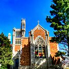 Steeple at Holy Cross Abbey by DeeCarmack