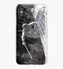 Ninja Turtle Leonardo in the Rain iPhone Case