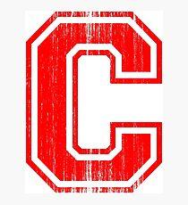Lámina fotográfica Gran letra roja C