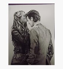 Amy Pond and the Doctor full drawing Photographic Print