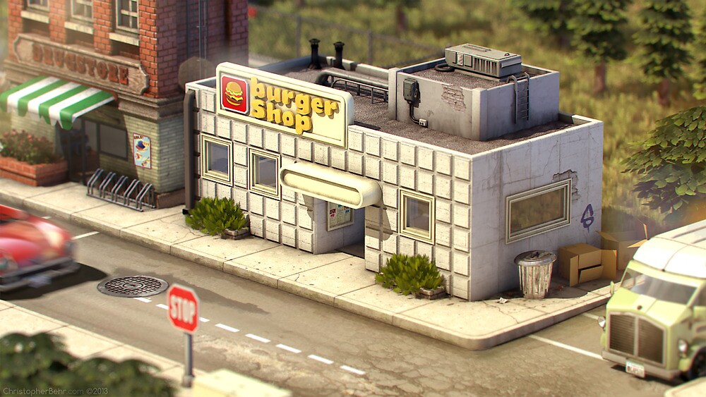 Onett - Burger Shop by Christopher Behr