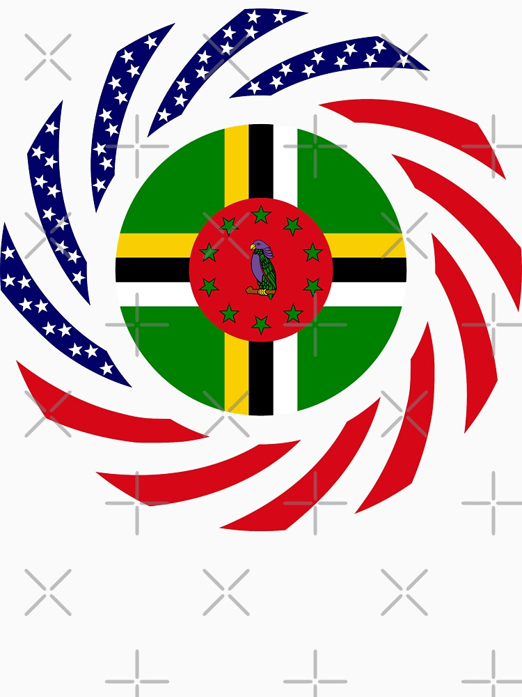 Dominica American Multinational Patriot Flag Series by carbonfibreme