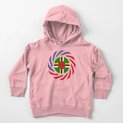 Dominica American Multinational Patriot Flag Series Toddler Pullover Hoodie