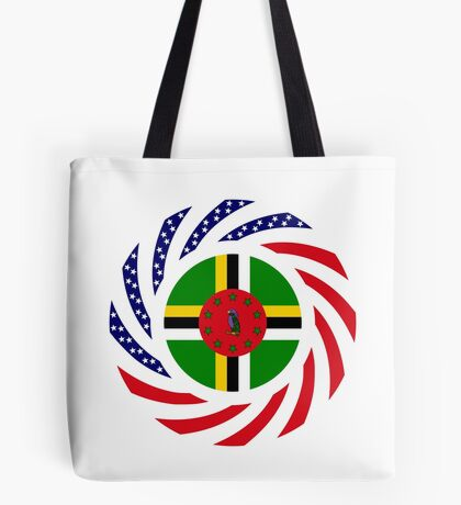 Dominica American Multinational Patriot Flag Series Tote Bag