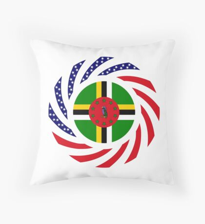 Dominica American Multinational Patriot Flag Series Throw Pillow