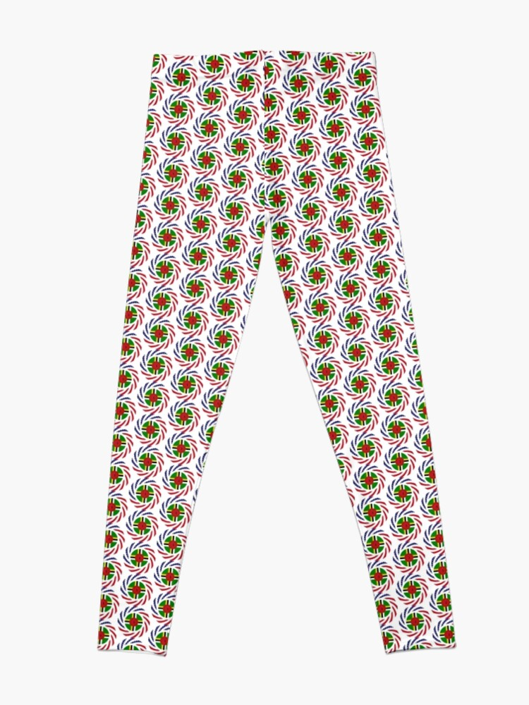Alternate view of Dominica American Multinational Patriot Flag Series Leggings