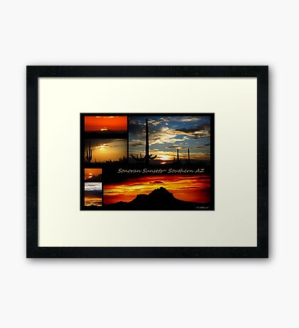 Sonora Sunsets~ Southern AZ Framed Print
