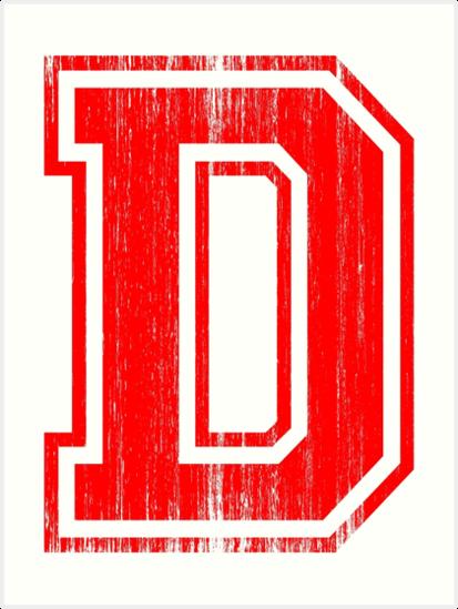 Big Red Letter D