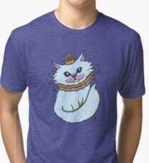 Little Blue Cheshire Tri-blend T-Shirt
