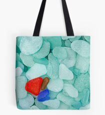 Three sea glass pieces Tote Bag