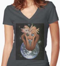 Lucy in the Sky Women's Fitted V-Neck T-Shirt