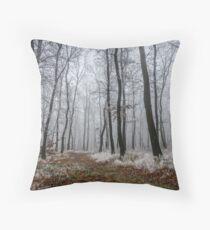 Frosty walk Throw Pillow