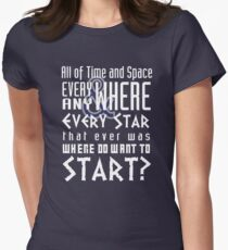 All of time and Space Typography Quote T-Shirt