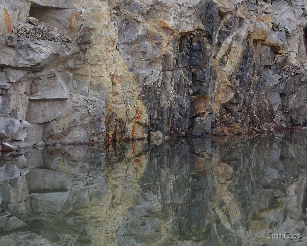 Rock Quarry Wall Reflections #3 by SmilinEyes