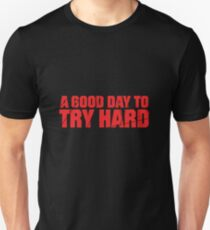 Try Hard - Red with Cracks T-Shirt