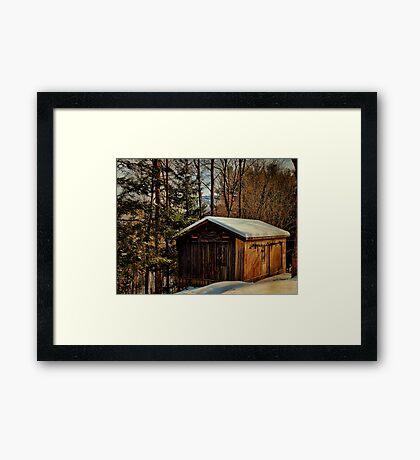 Winter Barn on the Mountain Framed Print