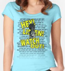 HEY HEY! Women's Fitted Scoop T-Shirt