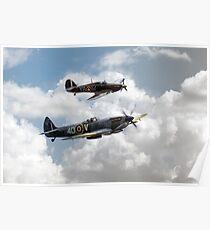 RAF Fighting Pair Poster
