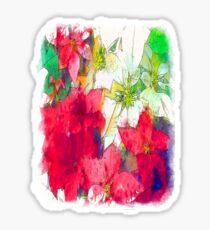 Mixed color Poinsettias 1 Serene Sticker