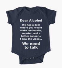 Dear Alcohol One Piece - Short Sleeve