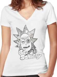Get Schwifty Women's Fitted V-Neck T-Shirt