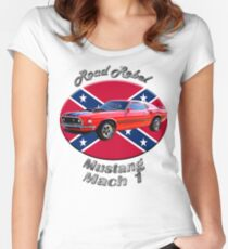 Ford Mustang Mach 1 Road Rebel Women's Fitted Scoop T-Shirt