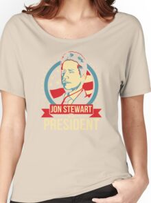 Jon Stewart for President  Women's Relaxed Fit T-Shirt