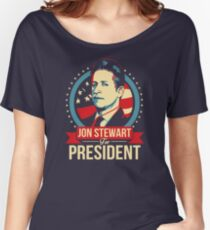 Jon Stewart for President  Women's Relaxed Fit T-Shirt