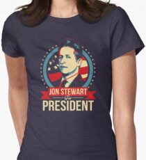 Jon Stewart for President  Women's Fitted T-Shirt