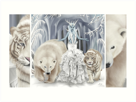 Ice faerie avec ours polaire et tigre blanc - Tigre polaire ...