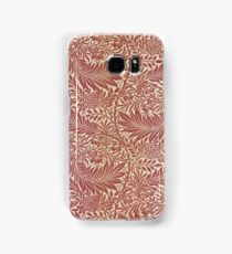 William Morris Floral Paper Burgundy and White Samsung Galaxy Case/Skin