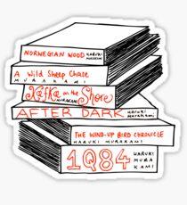 Haruki Murakami Book Stack Sticker