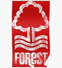 Nottingham Forest Distressed Logo Poster