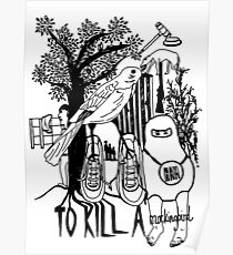 To Kill a Mockingbird (black and white) Poster