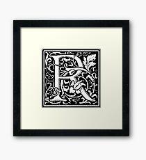 William Morris Renaissance Style Cloister Alphabet Letter R Framed Print
