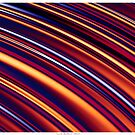 Color and Form Abstract - Curved Slope Warm Tones  by Leah McNeir