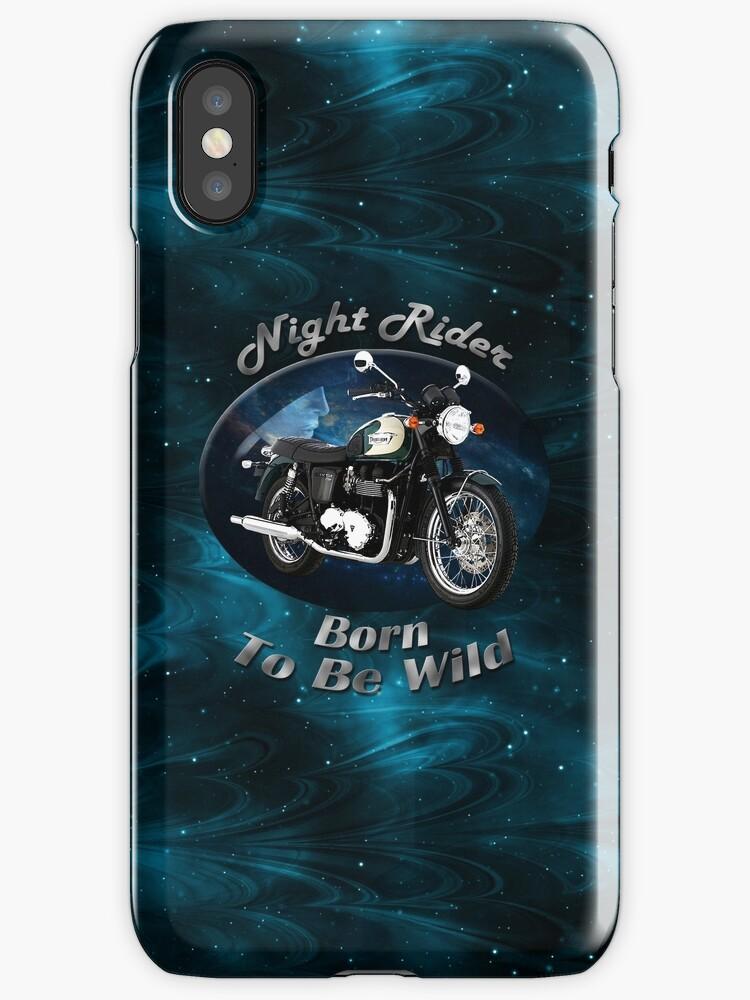 Triumph Bonneville Night Rider by hotcarshirts