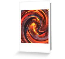 Fire and Water Abstract Greeting Card