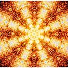 Undulating Tunnels of Molten Light - Abstract Fractal Art by Leah McNeir